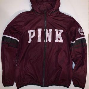 PINK Victoria's Secret Jackets & Coats - VS PINK'S MAROON WINDBREAKER